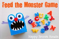 Totally Tots: Feed the Monster Language Game ~ Once Upon a Book