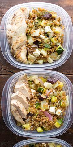 Mediterranean Chicken Farro Lunch Bowls – Dan330