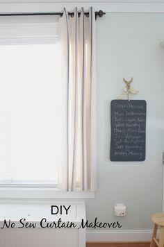 No Sew IKEA Curtain Makeover & Dining Room Sneak Peek - Simple Stylings www.simplestylings.com