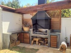 """Check out our website for additional information on """"outdoor kitchen designs layout patio"""". It is an excellent place to read more. Outdoor Kitchen Bars, Outdoor Kitchen Design, Outdoor Spaces, Outdoor Living, Outdoor Decor, Parrilla Exterior, Living Haus, Pergola, Pavillion"""
