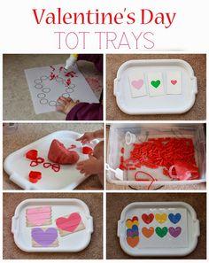 Valentine's Day Tot Trays