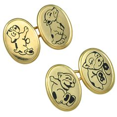 "French ""Puppy"" Cufflinks"