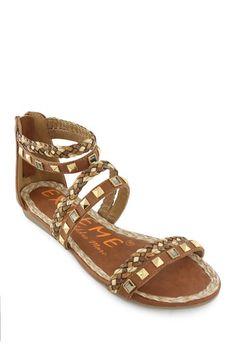 $19 EXTREME by Eddie Marc Phyllis Braided Stud Sandal by Sandal Splurge on @HauteLook