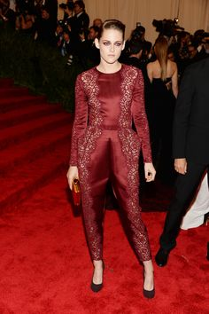 Kristen Stewart - Costume Institute Gala for the PUNK Chaos to Couture Exhibition in NYC 6 May 2013 in Stella McCartney Jumpsuit, Stella McCartney Clutch
