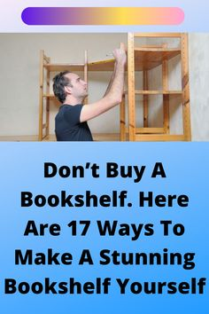 Woodworking Projects Diy, Woodworking Shop, Diy Projects, Unique Bookshelves, Glue Gun, Wood Working, Accent Pieces, Arts And Crafts, Building