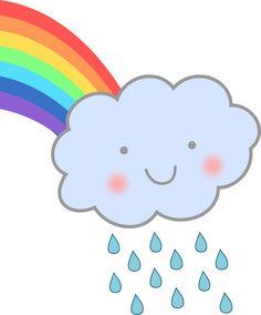 clipartist.net » Clip Art » Cute Rain Cloud Rainbow clipartist.net ...