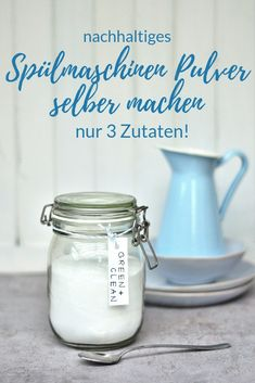 Spülmaschinen Pulver selber machen Smillas Wohngefühl Green & clean: Dishwasher powder with only 3 ingredients Smilla's feeling of wellbeing