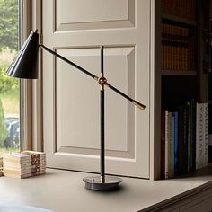 We spent an unusual amount of time debating the exact angle of the shade for our stylish new Mo light. Length, angle of attack, taper etc. We hope you approve. From our point of view, we are thrilled with it. A mighty cool desk lamp. Pooky Lighting, Desk Lamp, Table Lamp, Angle Of Attack, Black Hood, Kegel, Desk Light, Table Toppers, Shop Lighting