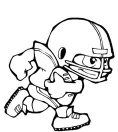 football player ran the ball coloring pages - Coloring Pages Football Players