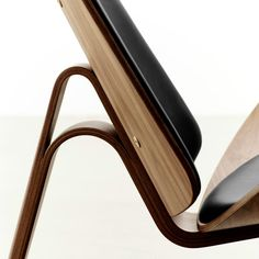 Wegner Shell Chair Cowhide Carl Hansen & Son at Palette & Parlor