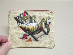 Beach Cats Coin Purse quilted by CutePurseNalities on Etsy