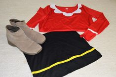 Halloween Olive Oyl Costume. easy costume with items in your closet.