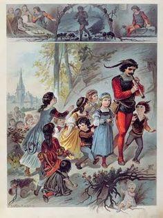 Lower Saxony, Hamelin-Pyrmont (district), Hamelin (town) ~ Pied Piper of Hamelin, c. 1880
