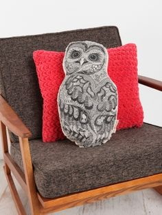 Refinery29 Shops: Urban Outfitters Sleeping Foxes Pillow + Baby Owl Pillow - Urban Outfitters Boutique - Boutiques