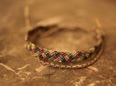 campo de cuerda de tejido a mano