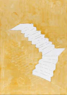 Artwork page for 'Stair Space III', Rachel Whiteread, 1995 Amazing Drawings, Art Drawings, Rachel Whiteread, Illusion, Gcse Art, Art Sketchbook, Contemporary Art, Illustration Art, Sketches