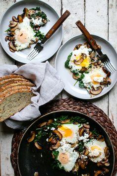 Mushroom & Spinach Breakfast Skillet   I Will Not Eat Oysters