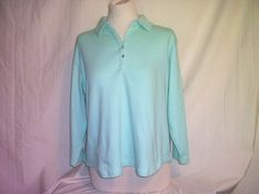 Coldwater Creek light green Polo Size 1X 100% cotton