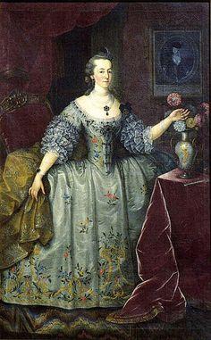 Portrait de Leonor Ernestina de Daun, 1emarquise de Pombal, artiste anonyme du XVIIIe siècle