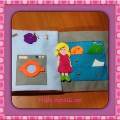 Muñeca / lavadora/ Quiet book