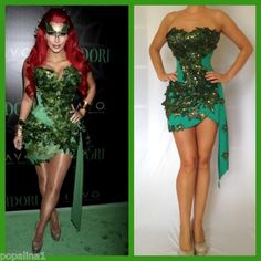 Sexy KIM Poison IVY Halloween Costume Custom Made Made TO Your Measurements | eBay