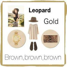 Leopard look.
