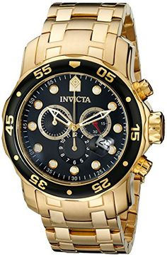 Invicta Men's 0072 Pro Diver Collection Chronograph 18k Gold-Plated Watch Invicta http://www.amazon.com/dp/B000820YD8/ref=cm_sw_r_pi_dp_WMnewb1R5VGM9