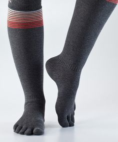 Another great find on #zulily! Sunset Stripe Casual Full-Toe Organic Knee-High Socks #zulilyfinds