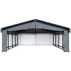 Arrow Carport Enclosure Kit, 20 x 20 ft, Outdoor Carport Canopy Kit (Carport not Included) - Walmart.com - Walmart.com Carport Canopy, Gazebo, Carport Covers, Layered Weave, Canopy Frame, Entrance Doors, Panel Doors, Outdoor Gear, Arrow