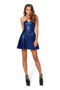 S Shattered Sapphire Reversible Straps Dress - LIMITED › Black Milk Clothing