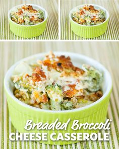 Breaded Broccoli and Cheese Casserole: A definite crowd-pleaser! Perfect for your next potluck or picnic, this dish is truly a delight. Served hot with Thanksgiving dinner to complete the meal. #FoodLion