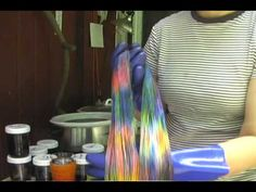 This is more a demo than a tutorial about how I dye yarn for my hand dye business (a tutorial would take 3x as long as this already overlong video). The shop is http://www.lightbrownhare.etsy.com The yarns in the video are all superwash and not at risk of felting. I'm using Jacquard acid dyes and citric acid. The method is a variation on low w...