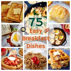 75 easy breakfast recipes and dishes, including lots of casseroles, make-ahead recipes, and slow cooker and Instant Pot ideas to keep your breakfast routine as stress free as possible. Tater Tot Breakfast, Slow Cooker Breakfast, Breakfast Bake, Breakfast Dishes, Best Breakfast Recipes, Make Ahead Breakfast, Brunch Recipes, Breakfast Ideas, Cracker Barrel French Toast