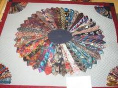 Dresden Plate quilt from silk neckties