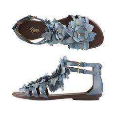 Fioni - Peacock Flower Gladiator Sandal ($27) ❤ liked on Polyvore