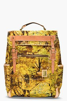 MASTER-PIECE Co Green forest-print rucksack