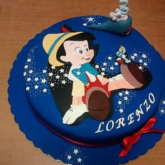 Pin for Later: Make It a Magical Day! 50 Wow-Worthy Disney Cakes This Cake Doesn't Lie! Pinocchio, an old-fashioned favorite, is transformed for a magical cake. Pinocchio, Blue Birthday Cakes, Online Cake Delivery, Disney Birthday, Disney Theme, Disney Cakes, Novelty Cakes, Gorgeous Cakes, Cakes For Boys