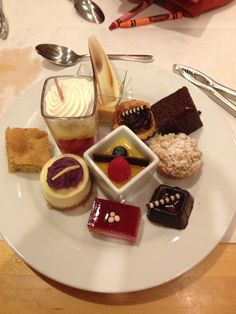 Dessert selection from Cape May Cafe  (Apparently Oreo bon-bons are now available at the gift shop any time!)