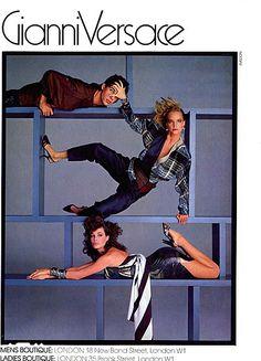 Campaign: Versace Season: Spring 1984 Photographer: Richard Avedon Model(s): Kim Alexis, Bonnie Berman, Kelly Lebrock, Andie Macdowell, Lisa Taylor, Janice Dickinson, Unknown