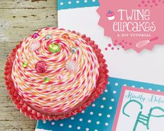 DIY Tutorial: Twine Cupcakes with Rhinestone Sprinkles.   Although I don't know what's the use of this...