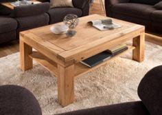Couchtisch aus Wildeiche massiv, Tisch, Wohnzimmertisch, Sofatisch, Massivholz, Maße: B/H/T ca. 120/50/70 cm