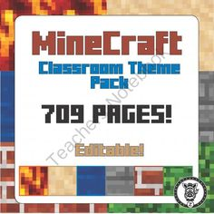 Minecraft Classroom Decoration / Organization Mega Pack!  Editable!  from ZisforZebra on TeachersNotebook.com -  (709 pages)  - Classroom Decoration / bundle / theme megapack based on Minecraft- 709 pages long!