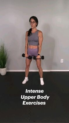 Gym Workout Tips, Gym Workout For Beginners, Easy Workouts, Workout Videos For Women, Fitness Workout For Women, At Home Workout Plan, Dumbbell Workout, At Home Workouts, Fitness Tips