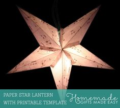Make a paper star lantern using our printable template.