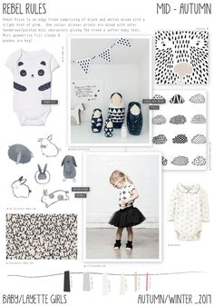 Emily Kiddy: Rebel Rules - Autumn/Winter 2016/17 - Baby/Layette Girls Trend