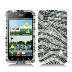 ZEBRA Rhinestone/Bling/Diamond/Crystal Hard Case Cover For LG Marquee LS 855 (Boost Mobile) - Get bling fabulous with these rhinestone adorned phone shells. Simply snap them over your phone for stylish glamour while also protecting your phone. The phone remains fully functional and you can still access the charger port, volume buttons, etc. - http://groovycellphone.com/zebra-rhinestoneblingdiamondcrystal-hard-case-cover-for-lg-marquee-ls-855-boos...