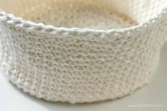 crocheted basket tutorial - going to try this for wildlife nests