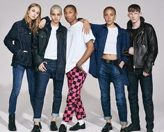 Join Pharrell and a dynamic collective of creative talent in celebrating diversity with the new range of G-Star Elwood jeans.