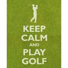 Keep Calm and Play Golf, premium print (grass texture)