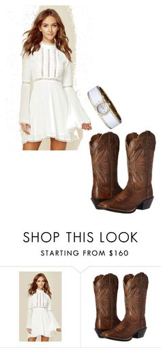 """Untitled #2039"" by vireheart ❤ liked on Polyvore featuring For Love & Lemons, Ariat and Caravelle by Bulova"